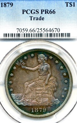 Lot 251 1879 Trade Dollar Priced Realized: $9,900.00