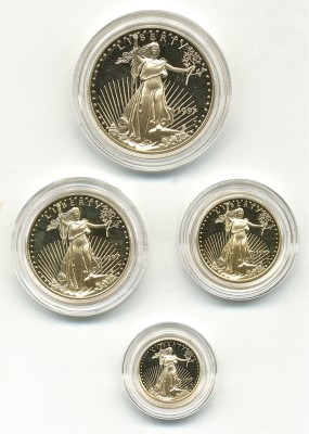 Lot 313 1997 American Proof Gold Eagle Set Price Realized: $2,970.00
