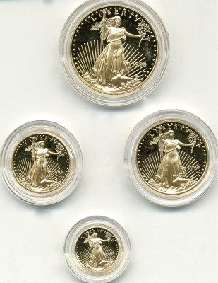 Lot 339 1998 American Gold Proof Eagle Set Price Realized: $3,190.00