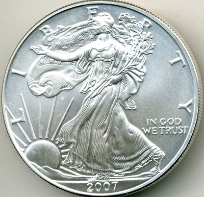 Lot 400 Roll of (20) 2007 American Silver Eagles Price Realized: $880.00