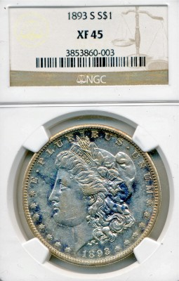 Lot 92 1893-S Morgan Dollar Price Realized: $8,250.00