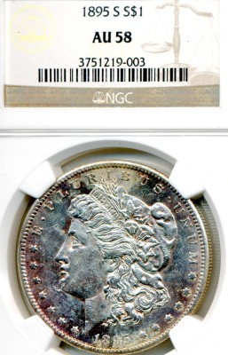 Lot 97 1895-S Morgan Dollar Price Realized: $2,090.00